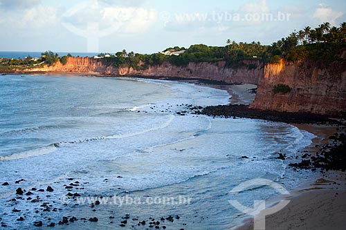Assunto: Vista da Praia de Tabatinga a partir do Mirante dos Golfinhos / Local: Nísia Floresta - Rio Grande do Norte (RN) - Brasil / Data: 03/2012
