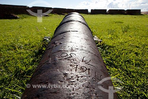 Assunto: Antigo canhão na Fortaleza de São José de Macapá (1782)Data: 04 / Local: Macapá - Amapá (AP) - Brasil / Data: 04/2012