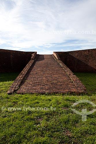 Assunto: Rampa da Fortaleza de São José de Macapá (1782)Data: 04 / Local: Macapá - Amapá (AP) - Brasil / Data: 04/2012