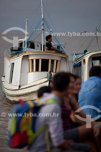 Assunto: Cais na orla de Santa Inês - Rio Amazonas / Local: Macapá - Amapá (AP) - Brasil / Data: 04/2012