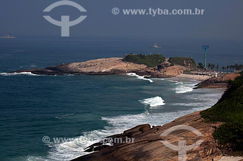 Assunto: Vista da Praia do Diabo e Pedra do Arpoador / Local: Ipanema - Rio de Janeiro (RJ) - Brasil / Data: 06/2012