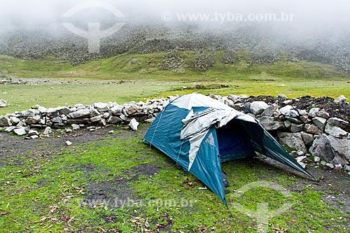 Assunto: Acampamento na trilha para o Pico Pan de Azúcar no Parque Nacional Sierra de la Culata / Local: Mérida - Mérida - Venezuela - América do Sul / Data: 05/2012