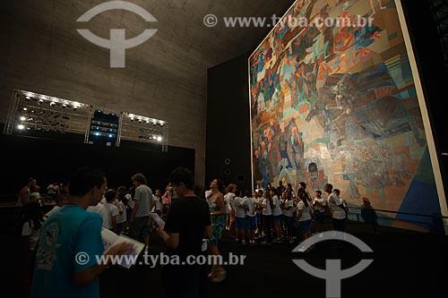 Assunto: Exposição Guerra e Paz no Memorial da América Latina - Painel Guerra de Cândido Portinari que foi restaurado e faz parte do acervo da ONU em Nova Yorque / Local: São Paulo (SP) - Brasil / Data: 03/2012