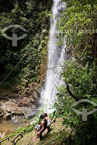 Assunto: Mulheres perto da Cachoeira Arapongas no Parque Estadual Turístico do Alto Ribeira / Local: Iporanga - São Paulo (SP) - Brasil / Data: 02/2102