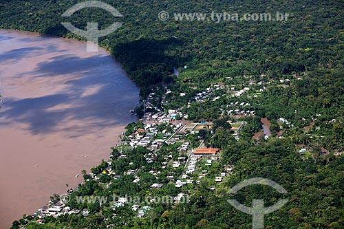 Assunto: Vista aérea de Vila Progresso - Ilha do Brigue - Arquipélago do Bailique / Local: Amapá (AP) - Brasil / Data: 04/2012