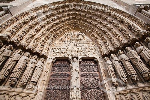 Assunto: Portal do Julgamento na Catedral de Notre Dame (Século XII) / Local: Paris - França - Europa / Data: 06/2012
