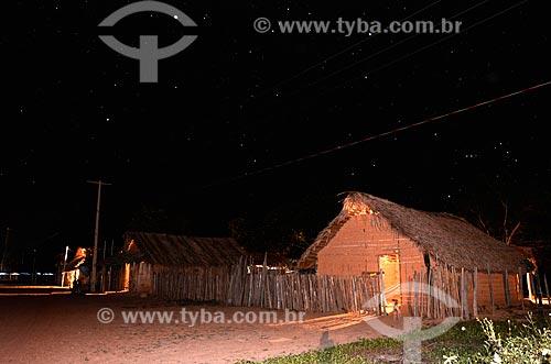 Assunto: Aldeia Juçaral na terra indígena Araribóia - Habitações dos índios da etnia Guajajara / Local: Amarante do Maranhão - Maranhão (MA) - Brasil / Data: 05/2012
