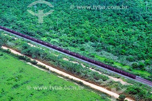 Assunto: Trem da Companhia Vale do Rio Doce (CVRD) na ferrovia de Carajás / Local: Maranhão (MA) - Brasil / Data: 05/2012