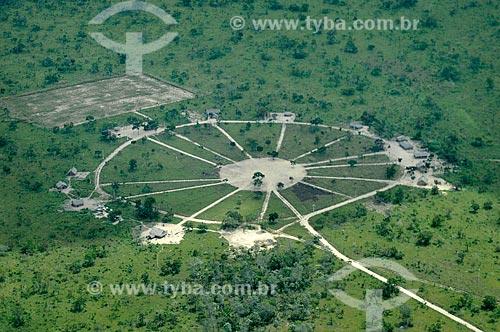 Assunto: Vista da aldeia Juçaral, mostrando as ocas dispostas em círculo - Terra indígena de Araribóia / Local: Amarante do Maranhão - Maranhão (MA) - Brasil / Data: 05/2012