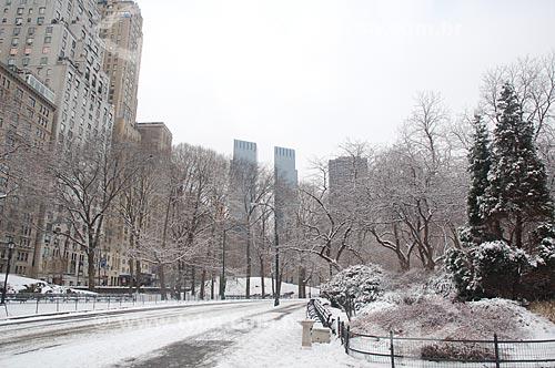 Assunto: Central Park durante o inverno / Local: Nova Iorque - Estados Unidos da América - EUA / Data: 01/2009