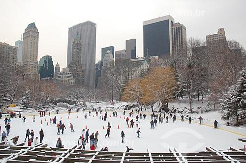 Assunto: Pista de patinação no gelo no Central Park / Local: Nova Iorque - Estados Unidos da América - EUA / Data: 01/2009