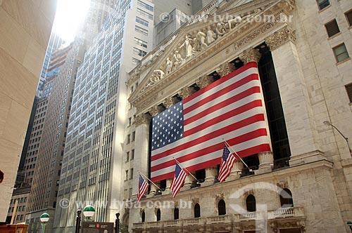Assunto: Fachada da Bolsa de Valores de New York / Local: Nova Iorque - Estados Unidos da América - EUA / Data: 09/2008