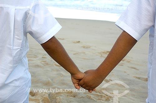 Assunto: Crianças de mãos dadas / Local: Rio de Janeiro - Rio de Janeiro (RJ) - Brasil / Data: 05/2010