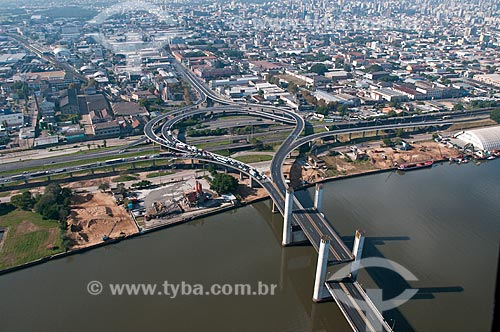 Assunto: Vista aérea da Ponte do Guaíba / Local: Porto Alegre - Rio Grande do Sul (RS) - Brasil / Data: 05/2012