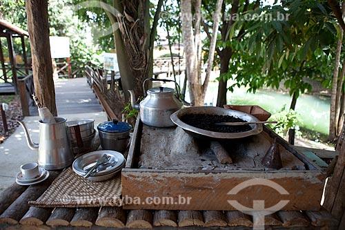 Assunto: Museu Sacaca - Café no fogão à lenha na Casa do Ribeirinho / Local: Macapá - Amapá (AP) - Brasil / Data: 04/2012