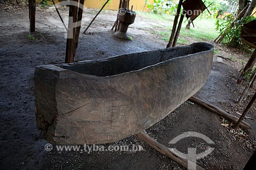 Assunto: Museu Sacaca - Canoa de Kasiri (mandioca) da etnia indígena Wajãpi / Local: Macapá - Amapá (AP) - Brasil / Data: 04/2012