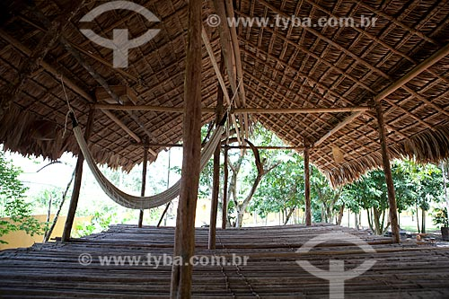Assunto: Museu Sacaca - Casa típica da etnia indígena Wajãpi (Conhecida como Casa Jura) / Local: Macapá - Amapá (AP) - Brasil / Data: 04/2012