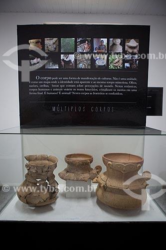 Assunto: Museu Sacaca - Urnas funerárias antropomorfas - Calçoene / Local: Macapá - Amapá (AP) - Brasil / Data: 04/2012