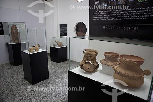 Assunto: Museu Sacaca - Exposição de urnas funerárias antropomórficas no setor de arqueologia / Local: Macapá - Amapá (AP) - Brasil / Data: 04/2012