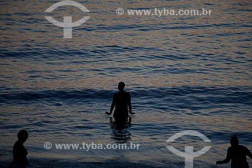 Assunto: Fim de tarde na praia de Ipanema / Local: Rio de Janeiro - Rio de Janeiro (RJ) - Brasil / Data: 04/2012