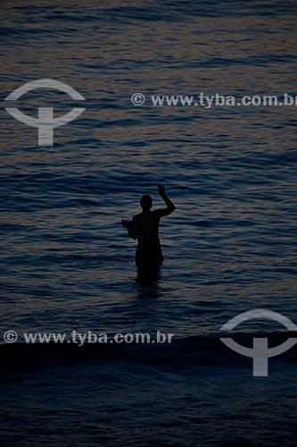 Assunto: Fim de tarde na praia de Ipanema / Local: Rio de Janeiro (RJ) - Brasil / Data: 04/2012