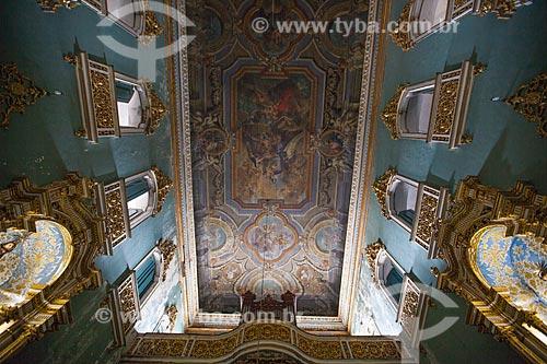 Assunto: Pintura do forro da nave central da Igreja da Ordem Terceira de Nossa Senhora do Monte do Carmo (1636)  / Local: Largo do Carmo - Salvador - Bahia (BA) - Brasil / Data: 07/2012