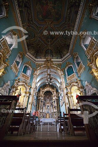 Assunto: Altar e pintura no forro da nave central da Igreja da Ordem Terceira de Nossa Senhora do Monte do Carmo (1636)  / Local: Largo do Carmo - Salvador - Bahia (BA) - Brasil / Data: 07/2012