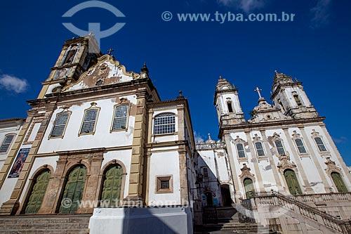Assunto: Igreja do Carmo (Século XVII) - esquerda - e Igreja da Ordem Terceira de Nossa Senhora do Monte do Carmo (1636) - direita / Local: Largo do Carmo - Salvador - Bahia (BA) - Brasil / Data: 07/2012