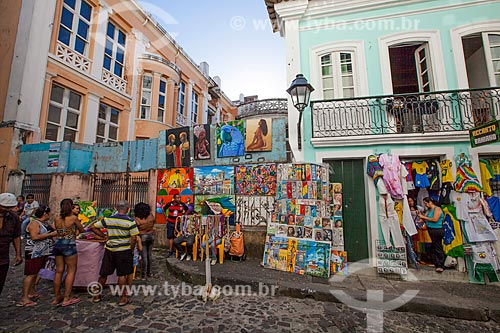 Assunto: Comércio de artesanato e arte popular / Local: Pelourinho - Salvador - Bahia (BA) - Brasil / Data: 07/2012