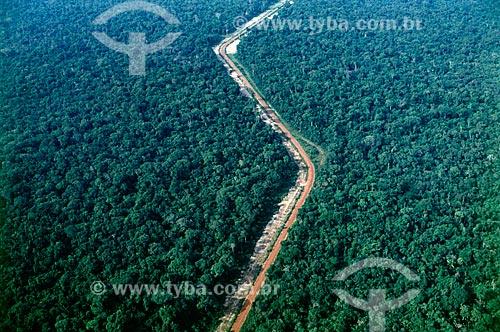 Assunto: Trecho da Rodovia Transamazônica / Local: Amazonas (AM) - Brasil / Data: Década de 70