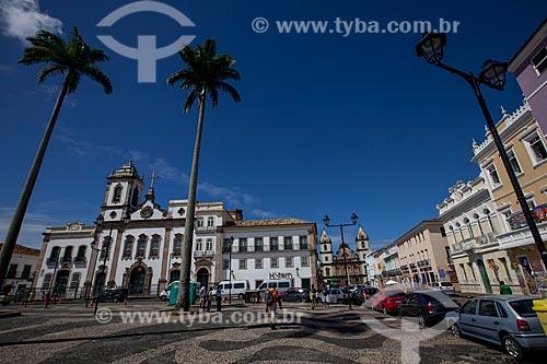 Assunto: Terreiro de Jesus - também conhecida como Praça 15 de novembro - com a Igreja de São Domingos ao fundo / Local: Salvador - Bahia (BA) - Brasil / Data: 07/2012