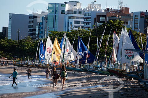 Assunto: Jangadas na Praia de Pajuçara / Local: Maceió - Alagoas (AL) - Brasil / Data: 07/2012