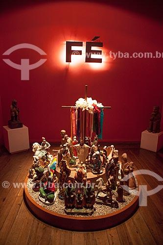Assunto: Imagens religiosas produzidas por artistas populares no Museu de Antropologia e Folclore Theo Brandão (1975) da Universidade Federal de Alagoas  / Local: Maceió - Alagoas (AL) - Brasil / Data: 07/2012