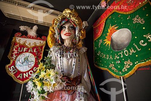Assunto: Estandartes de carnaval e boneca de carnaval no Museu de Antropologia e Folclore Theo Brandão (1975) da Universidade Federal de Alagoas / Local: Maceió - Alagoas (AL) - Brasil / Data: 07/2012