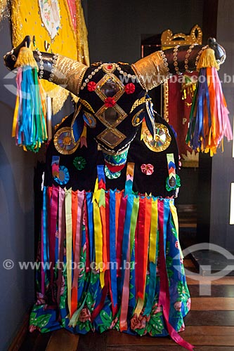 Assunto: Fantasia de bumba-meu-boi no Museu de Antropologia e Folclore Theo Brandão (1975) da Universidade Federal de Alagoas / Local: Maceió - Alagoas (AL) - Brasil / Data: 07/2012