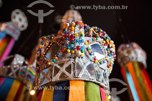 Assunto: Detalhe de parte de indumentária de folguedo no Museu de Antropologia e Folclore Theo Brandão (1975) da Universidade Federal de Alagoas / Local: Maceió - Alagoas (AL) - Brasil / Data: 07/2012
