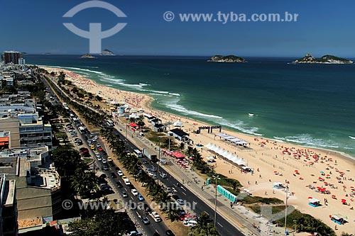 Assunto: Praia da Barra da Tijuca e Avenida Sernambetiba com Ilhas da Alfavaca e Pontuda ao fundo / Local: Rio de Janeiro - Rio de Janeiro (RJ) - Brasil / Data: 08/2012