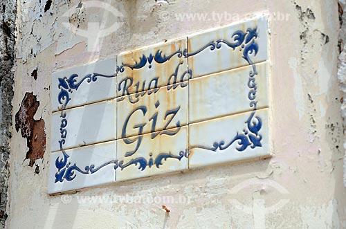Assunto: Azulejo português da Rua do Giz no centro histórico da cidade de São Luís  / Local: São Luís - Maranhão (MA) - Brasil / Data: 05/2012