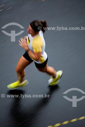 Assunto: Corredora durante a Meia Maratona da Cidade do  Rio de Janeiro / Local: Rio de Janeiro  -  Rio de Janeiro (RJ) - Brasil / Data: 07/2012