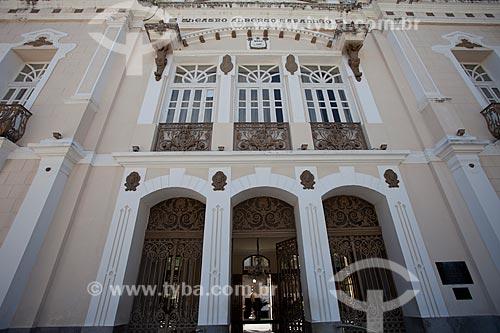 Assunto: Fachada do Teatro Alberto Maranhão (1904) - foi conhecido como Teatro Carlos Gomes até 1957 / Local: Ribeira - Natal - Rio Grande do Norte (RN) - Brasil / Data: 07/2012