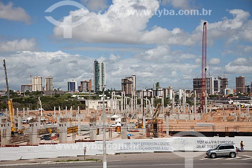 Assunto: Construção do estádio de futebol Arena das Dunas / Local: Lagoa Nova - Natal - Rio Grande do Norte (RN) - Brasil / Data: 07/2012