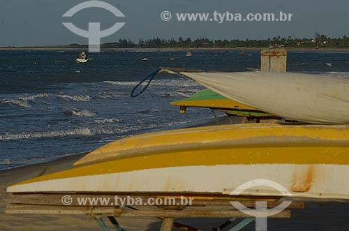 Assunto: Jangadas na Praia do Maceió / Local: São Miguel do Gostoso - Rio Grande do Norte (RN) - Brasil / Data: 04/2012