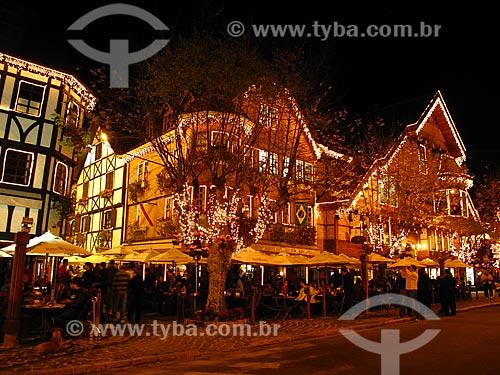 Assunto: Bar Baden baden com iluminação noturna / Local: Vila Capivari - Campos do Jordão - São Paulo (SP) - Brasil / Data: 09/2012