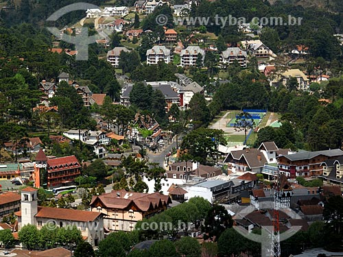 Assunto: Vila Capivari vista do Morro do Elefante / Local: Campos do Jordão - São Paulo (SP) - Brasil / Data: 09/2012