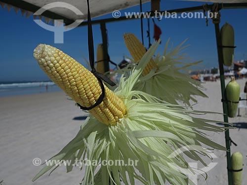 Assunto: Milho verde à venda em barraca na praia do Forte / Local: Cabo Frio - Rio de Janeiro (RJ) - Brasil / Data: 08/2012