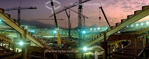 Assunto: Reforma no Estádio do Maracanã para a Copa do Mundo de 2014 / Local: Rio de Janeiro  -  Rio de Janeiro  ( RJ )   -  Brasil / Data: 08/2012