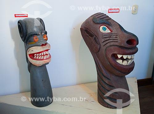 Assunto: Carrancas utilizadas na proa das embarcações -  no Museu Regional do São Francisco / Local: Juazeiro - Bahia (BA) - Brasil / Data: 06/2012
