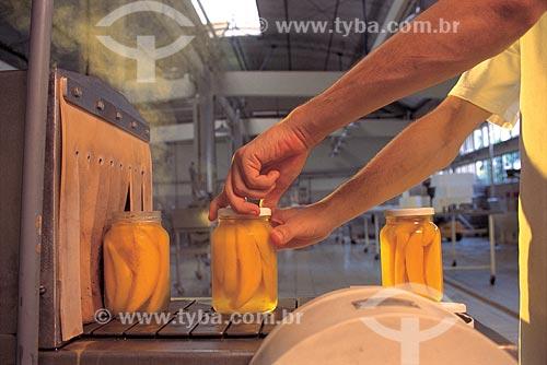 Assunto: Inspeção em processo de produção de compota de manga no Centro de Tecnologia do SENAI de Alimentos e Bebidas / Local: Vassouras - Rio de Janeiro (RJ) - Brasil / Data: