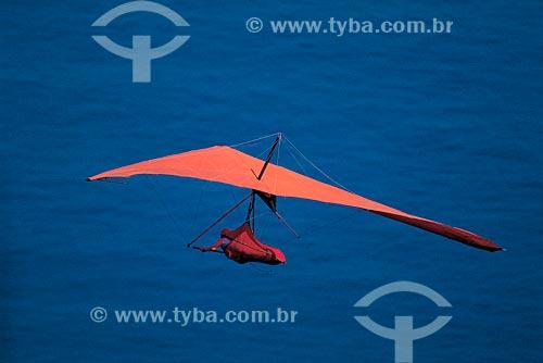 Assunto: Pessoa praticando voo livre - Asa-Delta / Local: São Conrado - Rio de Janeiro (RJ) - Brasil / Data: 2010