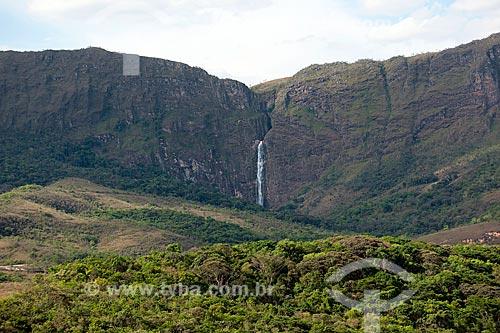 Assunto: Vista da Cachoeira Casca Danta no Parque Nacional da Serra da Canastra / Local: São Roque de Minas - Minas Gerais (MG) - Brasil / Data: 10/2011